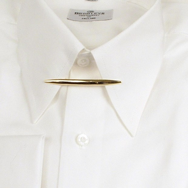 Collar pins with ball ends with chains collar bars and for Tie bar collar shirt